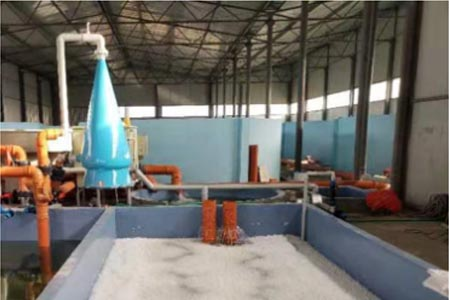Oxygen cone for fish farm